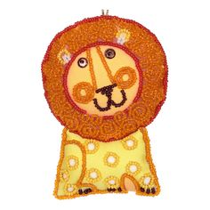 """DIY beads embroidery kit ''Decorative Toy Lionet"""". #vdvkiev embroiderykit #beads #sequins #beadingkit #Preciosa #printonfabric #softtoy #toy"""