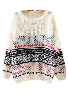 Women Casual Loose Sweater 2015 ₪ New Winter Snowflake Pullovers Batwing Sleeve Striped ⓪ Knitted Jumper Knitwear Sweater Tops Women Casual Loose Sweater 2015 New Winter Snowflake Pullovers Batwing Sleeve Striped Knitted Jumper Knitwear Sweater Tops Loose Sweater, Beige Sweater, Long Sleeve Sweater, Batwing Sleeve, White Jumper, Beige Top, Winter Sweaters, Sweaters For Women, Feminine Fashion