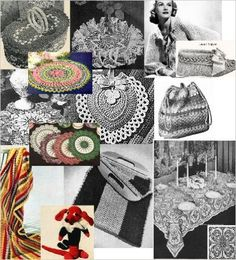 Vintage 1940's Crochet Patterns - Doilies, Shrugs, Afghans, Purses, 30 Vintage Crochet Patterns eBook:  (aff link)