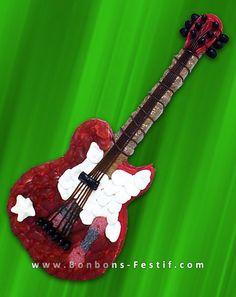 Guitare acoustique en bonbons - Gateau de bonbon guitare acoustique Bonbons-festif