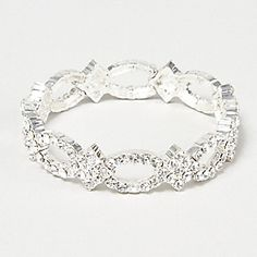 Crystal Stretch Party Bracelet claires