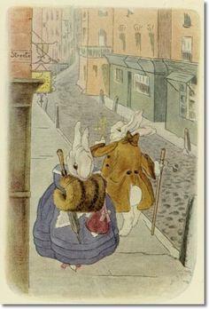 Beatrix Potter Books   Beatrix Potter - A Happy Pair by Beatrix Potter   Painting