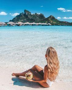 Bora Bora, French Polynesia with Pilot Madeleine, BCSunProtect, summerglow and schwarzkopfpro Hawaii Pictures, Beach Pictures, Beach Aesthetic, Summer Aesthetic, Bora Bora, Beach Photography, Travel Photography, Backlight Photography, Photography Composition
