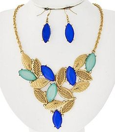 Urban Chic Mint Green Blue Crystal Leaf Cut Out Design St... http://a.co/hZwBt9W