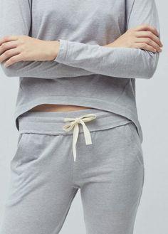 Calças baggy algodão | MANGO