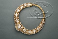 Reversible Traditional Hasli Necklace Design with Precious Stones and Antique Finish | Latest Indian Jewellery Designs