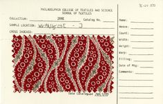 Textile swatch. Late 19th century.