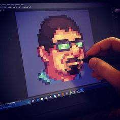 i am trying to drow my team with pixel art #gamedev #indiedev #indiegame #pixelart #art #2d #game #design #character #photoshop