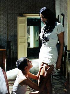 Monica Belluci and Giuseppe Sulfaro in 'Malèna' (dir. G. Tornatore, 2000)