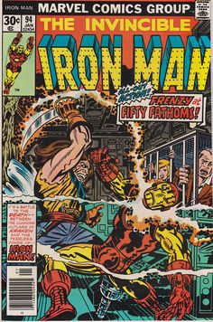 For sale iron man 94 marvel comics jack kirby artwork comic book emorys memories. Marvel Comics, Marvel Comic Books, Marvel Characters, Marvel Heroes, Comic Books Art, Book Characters, Book Art, Tony Stark, Iron Man