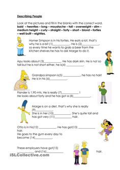 the simpsons worksheets english - Buscar con Google