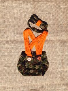 Crochet Camo Suspender Set by BeeLovedStitches on Etsy.....these are made by my babys very talented momma!