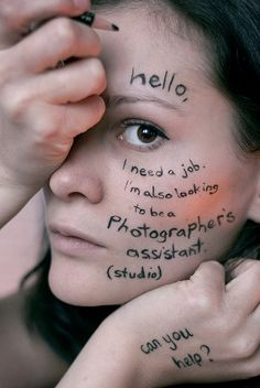 Looking for ideas to get attention? Looking for a #job ... Be creative!