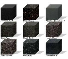 Virginia Black Granite In Satin Or Honed Finish Looks