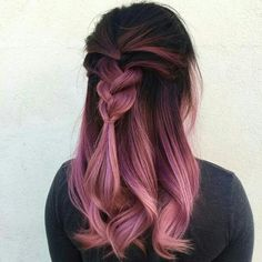 hair, pink, and hairstyle image  Beauty: Fantasy Unicorn Purple Violet Red Cherry Pink Bright Hair Colour Color Coloured Colored Fire Style curls haircut lilac lavender short long mermaid blue green teal orange hippy boho ombré woman lady pretty selfie style fade makeup grey white silver  Pulp Riot