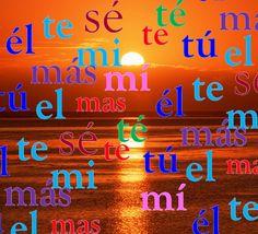 En aguas de la palabra: Teoría - Tilde diacrítica, por María Elena Picó Cruzans. Febrero / Marzo 2014 Palabras cuyo significado o función se diferencian por la ausencia o aparición de la tilde.