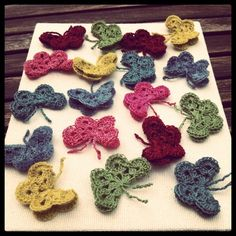 Crocheted butterflies