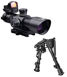 Trinity Force Combo Kit With 3-9x42 Tactical Rifle Scope With illuminated Range Finding Reticle Pattern + Integral Quick Detach Mount + Red Dot Micro Sized Backup Aiming Sight + Compact Height Adjustable Bipod - This item fits Picatinny Weaver Rails , Kel-Tec SU16 SU22 , Umarex 416 , Beretta CX4 CX9 AXR100 AXR160 , Mossberg 715t FLEX-22 , FN SCAR , ACR , Hk416 , S&W M&P 15-22 , Hi-Point 4095 4595 Carbine , AR15 , Remington Model 597 Rifles - http://www.airrifleforsale.com/air