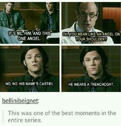 I thought it was a defining moment in the series because Sam and Dean didn't even have to lie to get into a mental hospital. No elaborate backstory, no grade A acting, just being completely honest. And then you start to notice how with everything that they both have went through they kept moving on and never committed suicide when they both had too many monsters to fight both physically and mentally. And I want to be like them. I honest to god do.