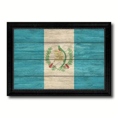 Guatemala Country Flag Texture Canvas Print With Black Picture Frame Home Decor Wall Art Decoration Collection Gift Ideas