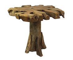 Mesa auxiliar en madera de teca Elfo