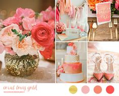 Coral and gold wedding inspiration | wedding wonderland