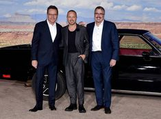 Bryan Cranston, Aaron Paul & Vince Gilligan from The Big Picture: Today's Hot Photos Breaking Bad Movie, Vince Gilligan, Aaron Paul, Bryan Cranston, Gabrielle Union, Big Picture, Hottest Photos, Nyc, Poses