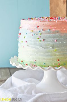 Five Layer Celebration Cake - recipe sounds amazing...want to try the frosting in an ombré style Frozen blue