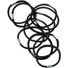 Monki hair elastics (€1) ❤ liked on Polyvore featuring accessories, hair accessories, fillers, hair, black magic, monki, ponytail hair ties and elastic hair ties