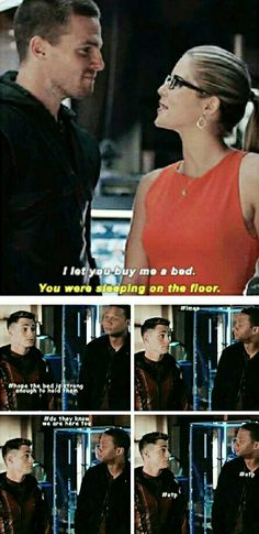 Roy and Diggle are such Olicity shippers #OTP i ship it so HARD!