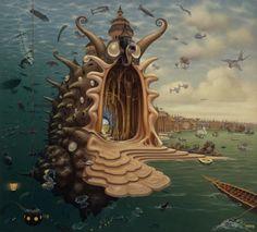 Surreal painting by Jacek Yerka