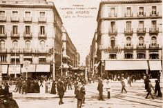 Calle Preciados en 1915 desde la Puerta del Sol