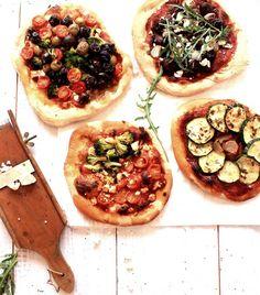 Pratos e Travessas: Pizzas vegetarianas # Vegetarian pizzas | Recipes, photography and stories