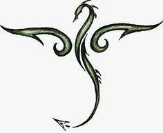 Small Simple Dragon Tattoos Black dragons, tattoo ideas,