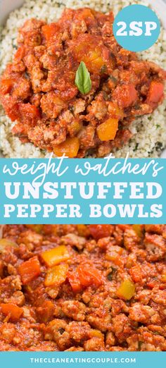 Weight Watchers Unstuffed Peppers are a hearty, easy meal that will leaving you feeling full! Keto, whole30 paleo, and so yummy! Perfect for a weeknight dinner! These low carb unstuffed pepper bowls are a clean eating recipe everyone will love! Healthy Turkey Recipes, Healthy Gluten Free Recipes, Low Carb Dinner Recipes, Clean Eating Recipes, Lunch Recipes, Whole30 Recipes, Paleo Menu, Xmas Recipes, Paleo Dinner