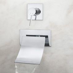 Reston Wall-Mount Waterfall Tub Faucet - Wall Mounted Tub Faucets - Tub Faucets - Bathroom
