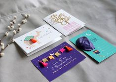 Poppetry x Honey Lemon // Fun Eid cards and Ramadan / Iftar party invites Diy Eid Cards, Diy Eid Gifts, Ramadan Cards, Ramadan Gifts, Kids Cards, Eid Crafts, Craft Stick Crafts, Eid Favours, Eid Envelopes