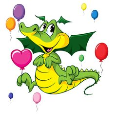 Dragon with Balloons coloring page & Dragon with Balloons online coloring game for kids Coloring Games For Kids, Cute Dragon Drawing, Balloons Online, Baby Barn, Cartoon People, Cute Dragons, Animal Coloring Pages, Dragon Art, Kids Cards