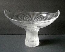 Iittala Kantarelli Crystal Glass Vase Tapio Wirkkala Finland Mid Century Modern