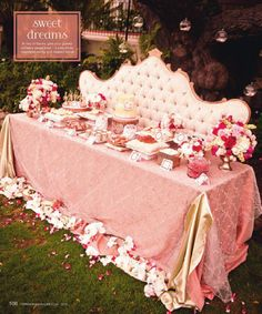 Wedding table linens pink and rose
