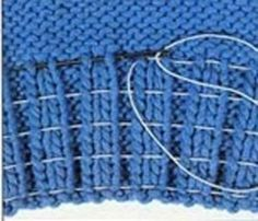 Mobile LiveInternet How to insert a rubber thread into a knitted elastic band | -MALEFISENTA- - MALEFISENTA |