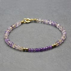 Finished ametrine accent bracelet
