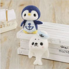 Needle Felting Kit Penguin and Seal Wool Craft DIY  By Hamanaka H441-370
