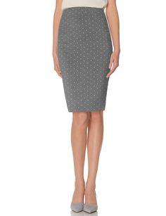 High Waist Dot Pencil Skirt