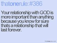 Is your relationship with God your priority?