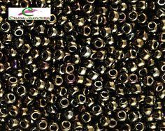 th11-83.  15 gramos rocalla 11/0 TOHO metallic iris brown  2 - 2,2  mm. de Cristalbijouterie en Etsy
