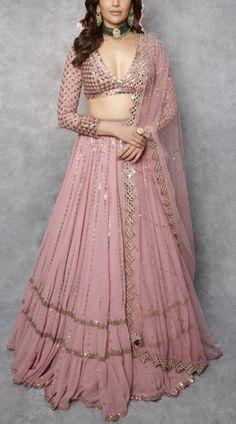 Lengha Choli, Lehnga Dress, Lehenga Blouse, Lehenga Skirt, Bandhani Dress, Floral Lehenga, Pink Lehenga, Sarees, Indian Fashion Dresses