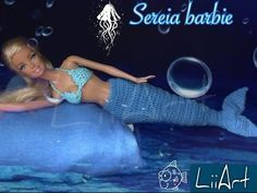 Barbie Sereia /croche - LiiArt - YouTube
