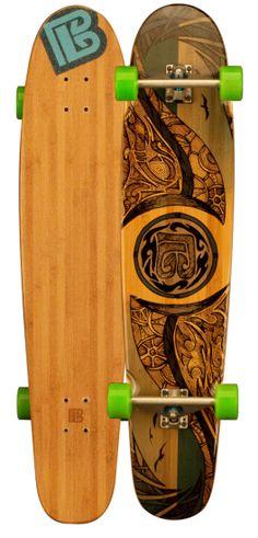 "Bamboo Skateboards ""Double Kick Mirrored Sea"" #BambooSkateboards"