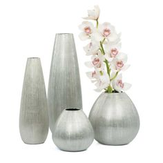Rialto Silver Textured electroplated porcelain vases See in store for price and details! www.lambertpaint.com